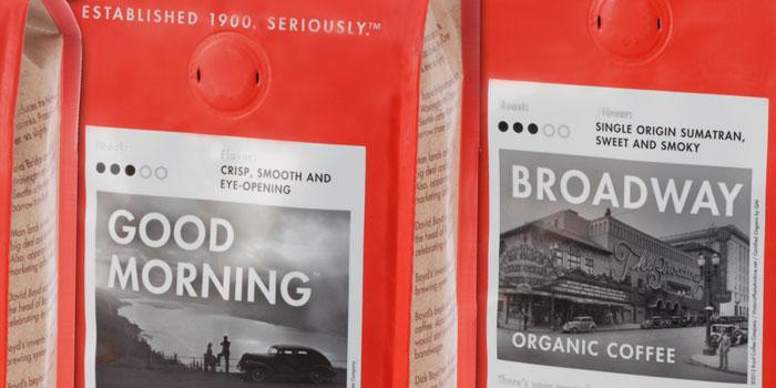 Новое ретро для кофе Boyd's