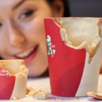 В ресторанах быстрого питания KFC в Великобритании начали подавать кофе в съедобных стаканах