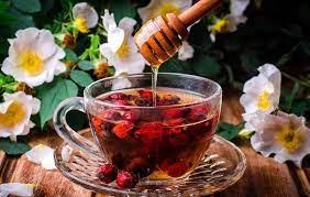 Ягодный чай с мёдом